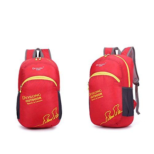 Outdoor Klappfl¨¹gel wasserdichte Tasche im Freien Rucksack fortschrittliche Hauttasche wasserdichte Sonnencreme Ripstop Rot