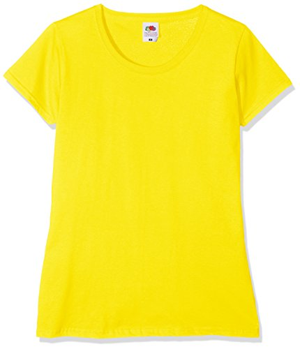 Fruit of the Loom Damen T-Shirt Gelb