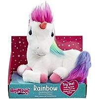 Animagic Rainbow - My Glowing Unicorn, a Soft Unicorn Plush Toy with Glowing Horn and Unicorn Sounds