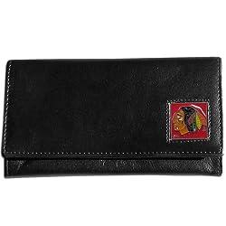 NHL Chicago Blackhawks Genuine Leather Women's Wallet