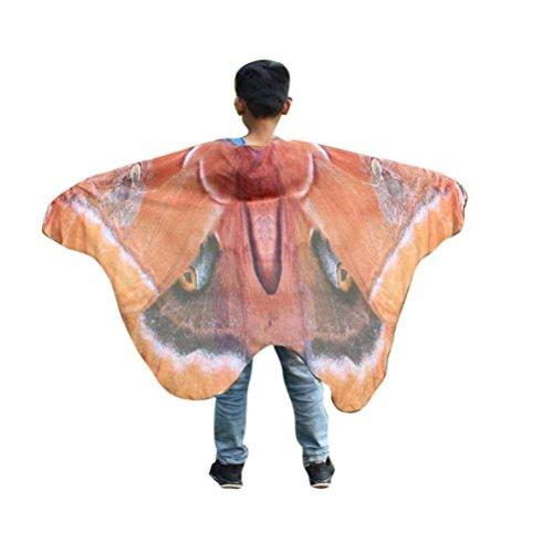 Overdose Kind Kinder Jungen Mädchen Faschingskostüme Karneval Kostüm schmetterlingsflügel Kostüm Butterfly Wing Cape Kimono Flügel Schal Cape Tuch Pashmina Kostüm Zubehör