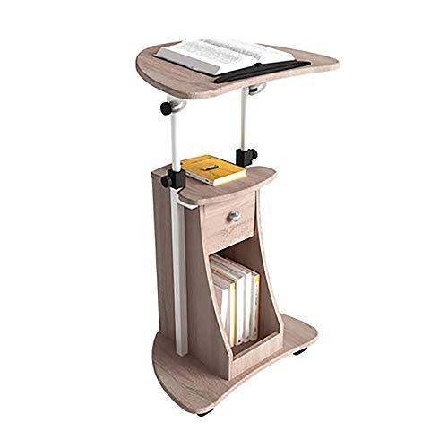 Tragbares Podium Mobile Stehpult Höhenverstellbarer Standfuß nach oben Computer-Arbeitsplatz Rollen Präsentation Wagen Lehrer Speaker für Meetings & Seminare ( Color : Brown , Size : 40X55X116CM )