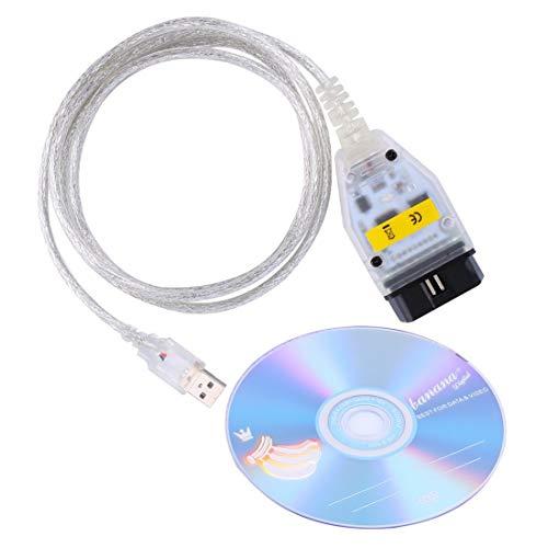 Formulaone Câble de Diagnostic d'interface USB Professionnel Automatique K + Can K + DCAN Outil de Diagnostic de Voiture Haute Performance Accessoires de véhicules pour BMW - Blanc