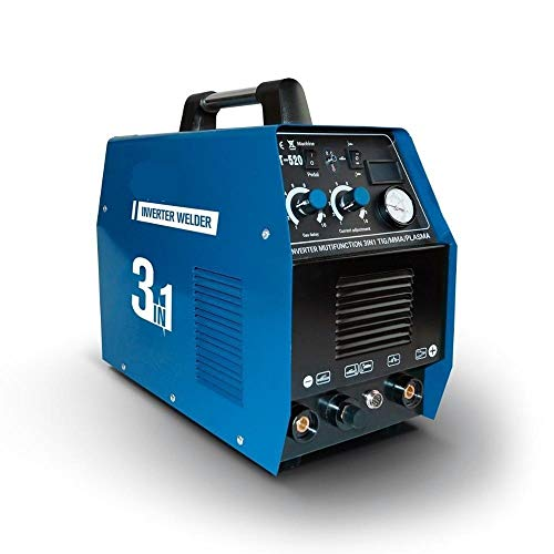 Mikroschweißgerät Plasmaschneider CT520D 50AMP 220V IGBT Multifunktions-Inverter-Schweißgerät 3IN1 WIG WIG MMA CUT Schweißgerät Digitaler Bildschirm (Color : CT-520D, Size : 220V)