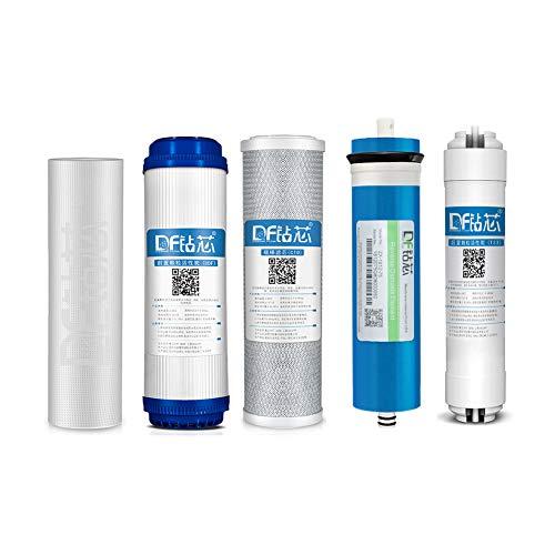Stage 1-5 Ersatzfilter-Set für 5-stufige Umkehrosmose-Systeme