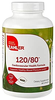 Zahler 120/80, Advanced Blood Pressure Support Supplement, Contains Hawthorn Berry And Much More For Hypertension And Cardiovascular Control, Certified Kosher, 180 Capsules by Advanced Nutrition by Zahler