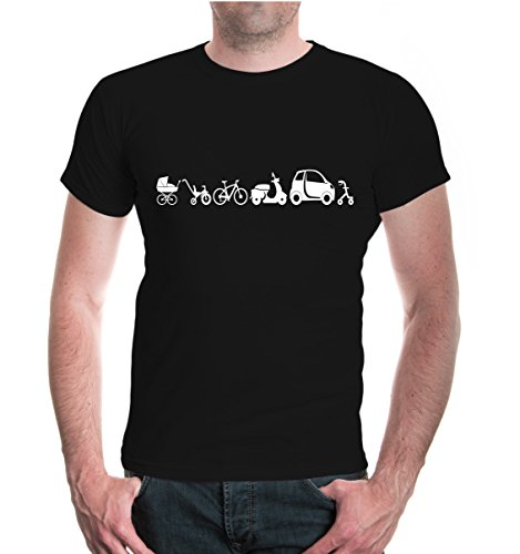 buXsbaum® T-Shirt Evolution of vehicle Black-White
