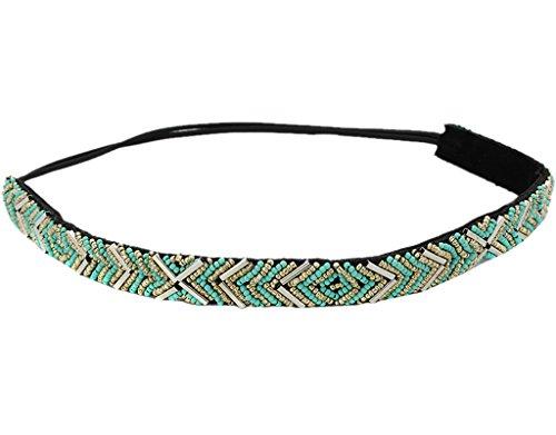 BONAMART Ragazze Elegent perle plastica fascia larga fascia per capelli  Hippie blu e7031248b9a9