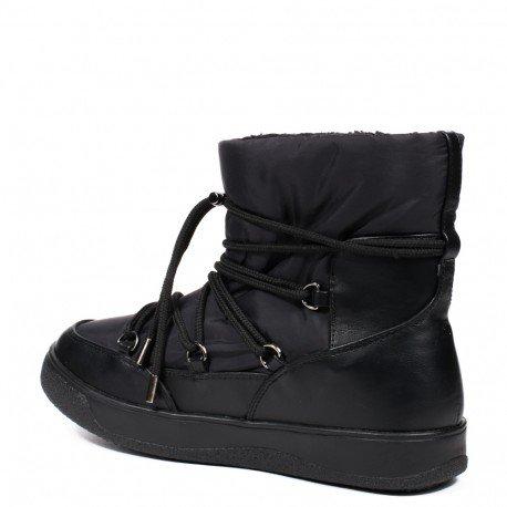 Ideal Shoes - Bottines de neige fourrées Mieline Noir