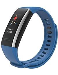 HI15 Smart Bracelet de fréquence cardiaque avec informations de pression sangle, rappel du bracelet Blut Smart Bracelet oxygénère les calories sommeil sommeil surveillance d'appel bleu