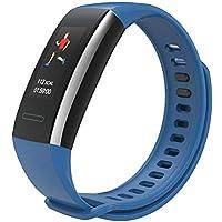 Wood.L - Pulsera Inteligente con frecuencia cardíaca y presión Arterial, oxígeno, calorías, monitoreo del sueño, recordatorio de Llamadas, Pulsera HI15