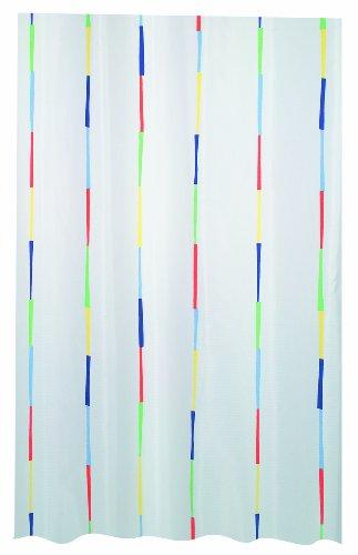 Orange Grün Duschvorhang Und (- Farbe Multi Dario Spirella Textil-Duschvorhang Polyester 120 x 200 cm, Weiß/Lila/Blau/Orange/Grün/Gelb)