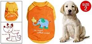Elephant Print Size 2 Lovable Dog Doggie Clothes Apparel from sourcingmap