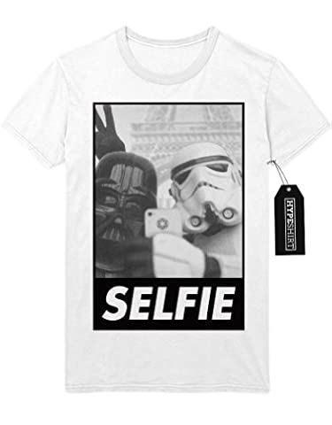 T-Shirt Star Wars Trooper Disney Selfie Instagram Twitter H999941 Weiß XL
