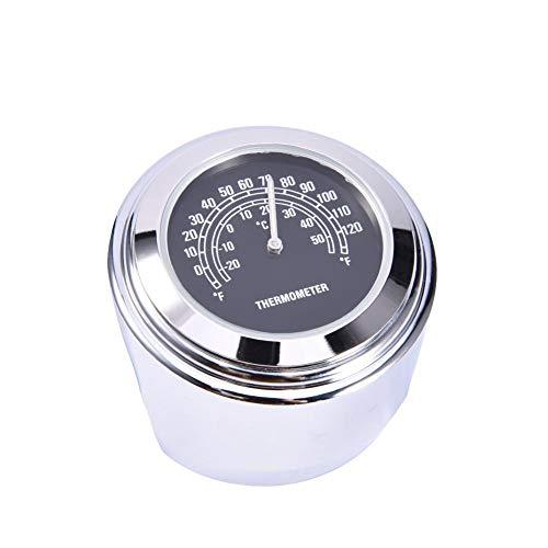 True-Ying Motorrad Lenker Zifferblatt Uhr Thermometer Instrumente Unversal Motorrad Uhr Zubehör & Teile Für Harley Davidson Motor (Teile Motor Harley)