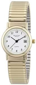 Regent Damen-Armbanduhr XS Analog Edelstahl beschichtet 12300078