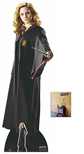 BundleZ-4-FanZ Hermione Granger (Emma Watson) Hogwarts School Uniform Lebensgrosse und klein Pappfiguren/Stehplatzinhaber/Aufsteller - Enthält 8X10 (25X20Cm) - Harry Potter Figur Kostüm Für Erwachsene