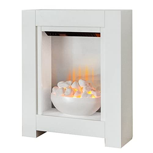 41ZW J7Ed6L. SS500  - Adam Monet Fireplace Suite in Pure White with Electric Fire, 23 Inch