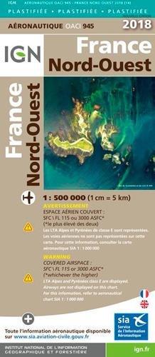 France Nord-Ouest plastifiée : 1/500 000