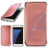 MoEx Samsung Galaxy S7   Hülle Transparent TPU [OneFlow Void Cover] Dünne Schutzhülle Rosé-Gold Handyhülle für Samsung Galaxy S7 Case Ultra-Slim Handy-Tasche mit Sicht-Fenster