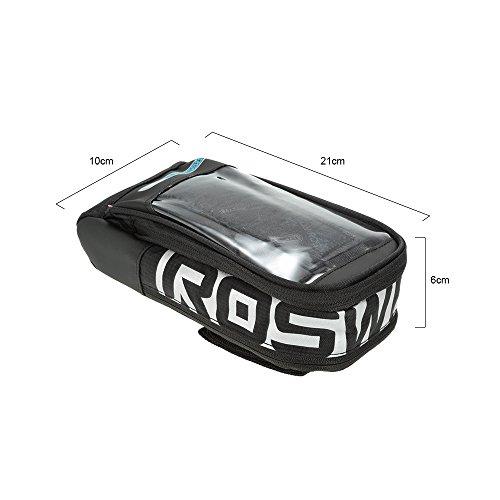 Docooler Fahrradrahmen Schlauch Beutel/Fahrrad Lenkertasche, Multifunktion Touch screen Bike Pauschale Schwarz