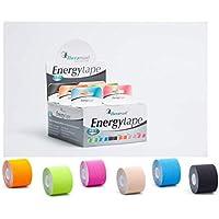Theramaid Energytape 6er Packung 5cm x 5m | 1 Stück pro Farbe | Extrem Starke Klebekraft - Speziell für Sportler... preisvergleich bei billige-tabletten.eu