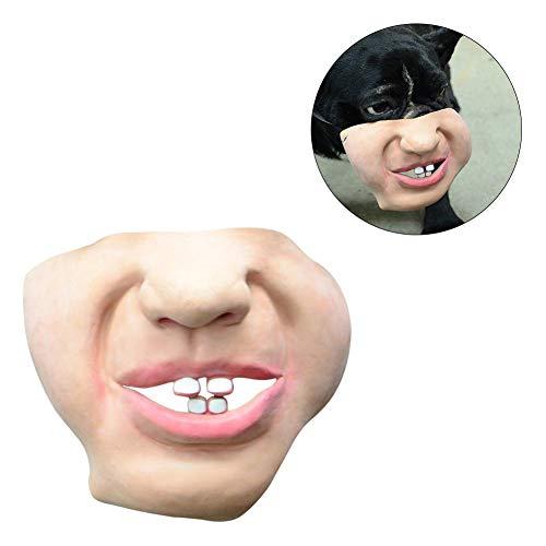 (iBaste Halloween Masken Erwachsener Maske Hund Maske Leistung Hund Bulldogge lustige halbe Gesichtsmaske Latex Simulierte Requisiten)
