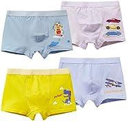 MiSense 4 Pack Bóxers Calzoncillos Ropa Interior Niños para 2-11 Años