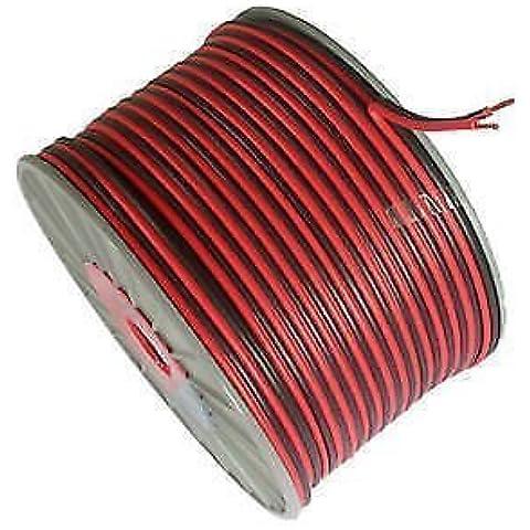 100Metri 2Core Nero Rosso 12V 12Volt cavo di prolunga amp van auto barca striscia LED Audio Speaker Wire by