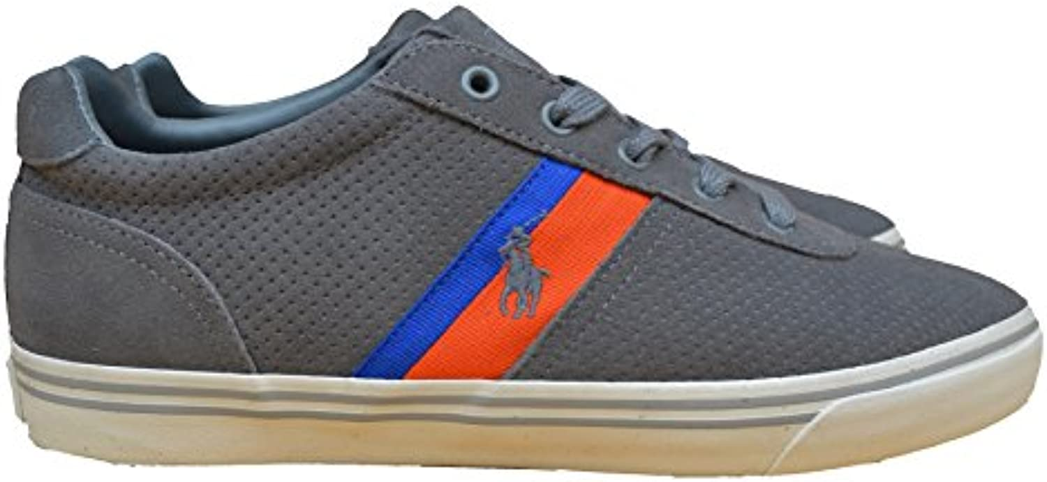 Ralph Lauren Sneakers Schuhe Hanford II Wildleder Leder Grau