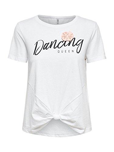 T- Shirt Only Fame Bianco Bianco