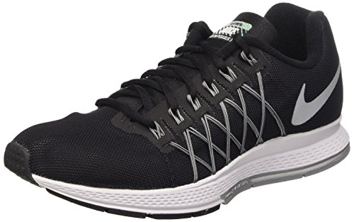 NIKE Air Zoom Pegasus 32 Flash Scarpe da Ginnastica, Uomo, Nero (Black/Reflect Silver-Pure Platinum-Cool Grey-Wolf Grey), 42