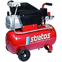 Compressore 'Stratos 24' Ad Olio Di Tipo Coassiale Con Cilindro In Ghisa. Costruito In Conformità Alle Più Severe Normative Internazionali. Motore Elettrico, Testata In Alluminio.