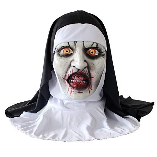 Kostüm Womens Kiss - AZZRA Grimassenmaske aus Latex Vintage Festival Halloween Maskerade Party Maske Maske Halloween Scary Cosplay Maske Leuchtenden EL Draht Grimasse Fest Karneval Christmas Party Kostüm
