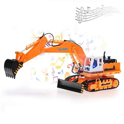 RC Auto kaufen Baufahrzeug Bild 2: deAO 6 Kanal Fernsteuerung Baubagger Bagger Bulldozer Truck mit Licht und Sounds*