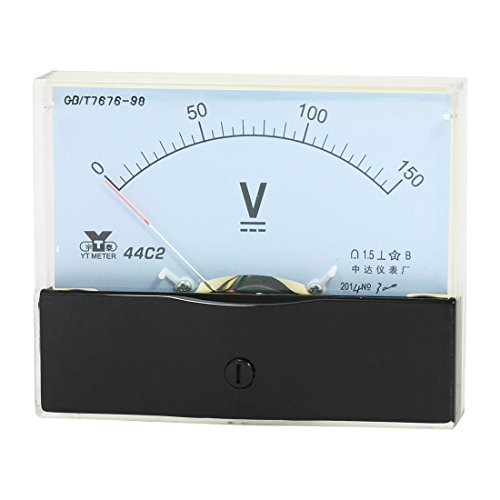 sourcing map Analog Voltmeter Meter Voltmeter DC 0-150 V Messbereich 44C2 -