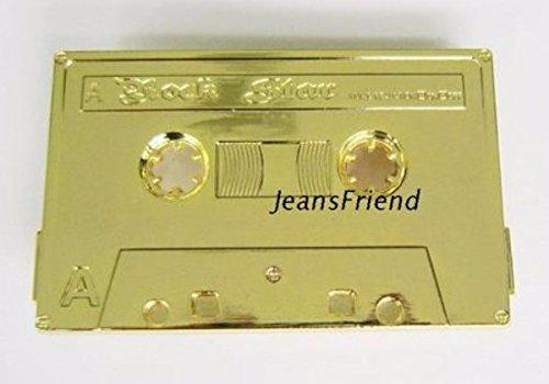Napolo Cinturon de Hebilla Western Vintage Buckle Hombre Oro Cinta de Cassette