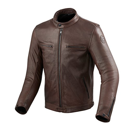*REVIT GIBSON Herren Motorrad Lederjacke City – braun Größe 52*