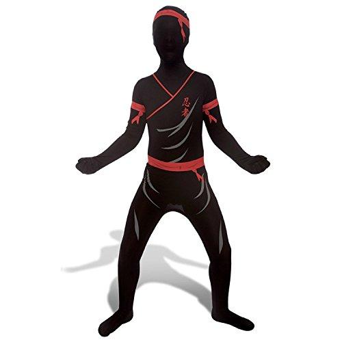 Morphsuit Ninja für Kinder Größe L