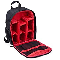 Waterproof DSLR Camera Bag Shockproof Backpack Hiking Bag-Red