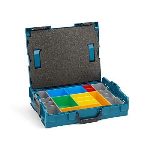 Bosch Sortimo Werkzeugkoffer-Set • L-Boxx 102 • bestückt mit Ordnungssystem Insetboxen-Set H3
