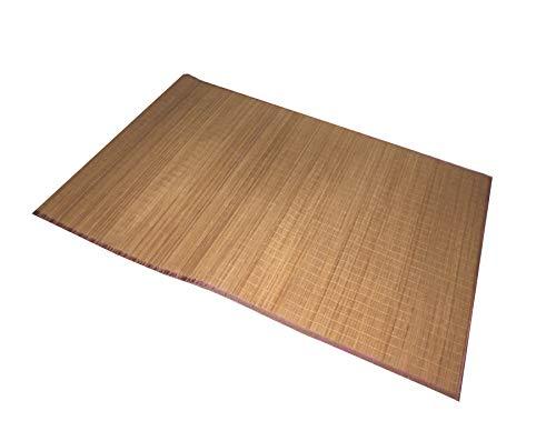 Dynamic24 Bambusteppich 230 x 160 cm Bambusmatte Bambus Teppich Läufer Vorleger Badmatte