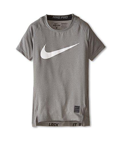 Nike Kinder Shirt Cool Compression Short Sleeve Top, Carbon Heather/Black, XS