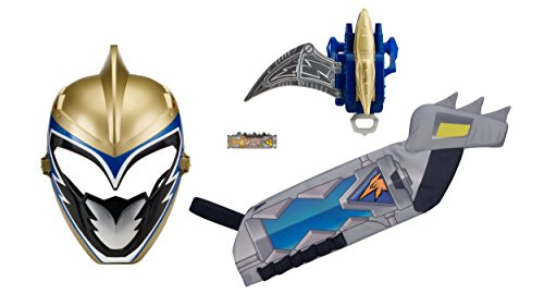 Power Rangers : Dino Super Charge – Dino Charge Ranger Doré – Set Héros pour Enfant