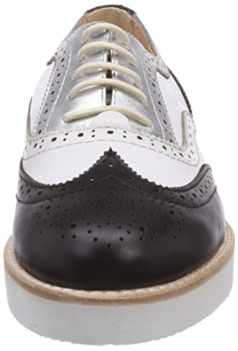 Samsonite - Atene Low 1570 Cuir / Cuir Noir / Blanc, Scarape Stringate Basse Brogue Donna Multicolore (multicolore (noir / Blanc))