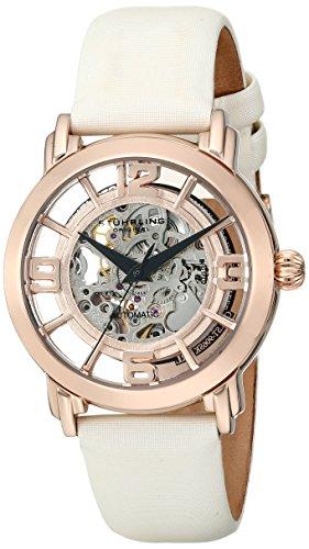 Stührling Original 156.124W14 - Reloj analógico para mujer, correa de cuero, color blanco