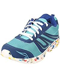 BACCA BUCCI MEN SKY BLUE PU AND MESH SPORT SHOES