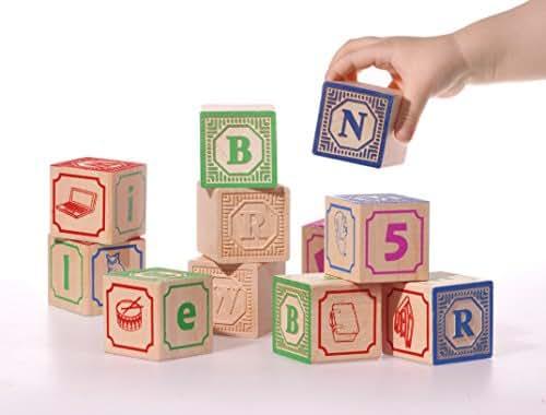 blocchi di legno, Italian ABC blocks, Cubi per imparare l'alfabeto italiano
