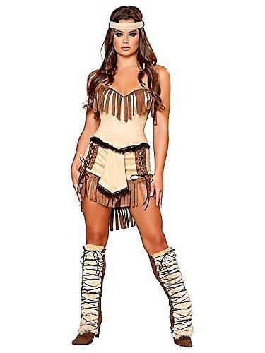 Indischen 3 Kostüm Wünsche - Damen Sexy Cherokee indischen Kostüm Gr. Medium, braun