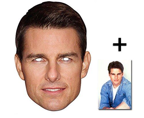 Tom Cruise berühmtheit Single Karte Partei Gesichtsmasken (Maske) Enthält 6X4 (15X10Cm) starfoto